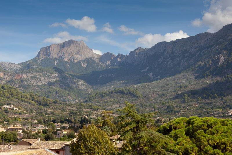 Mountain views from Gran Hotel Sóller in Majorca