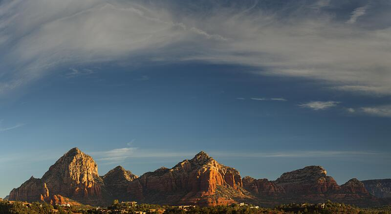 Panoramic view of the Red Rocks.