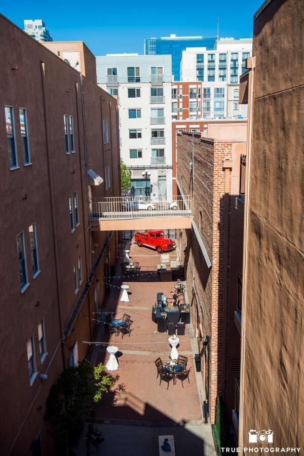 courtyard birdeye view
