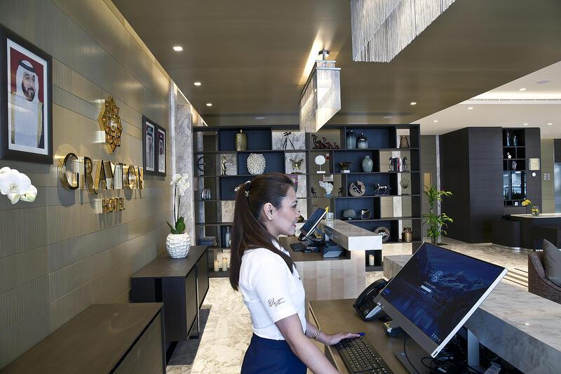 Reception at Grayton Hotel Dubai