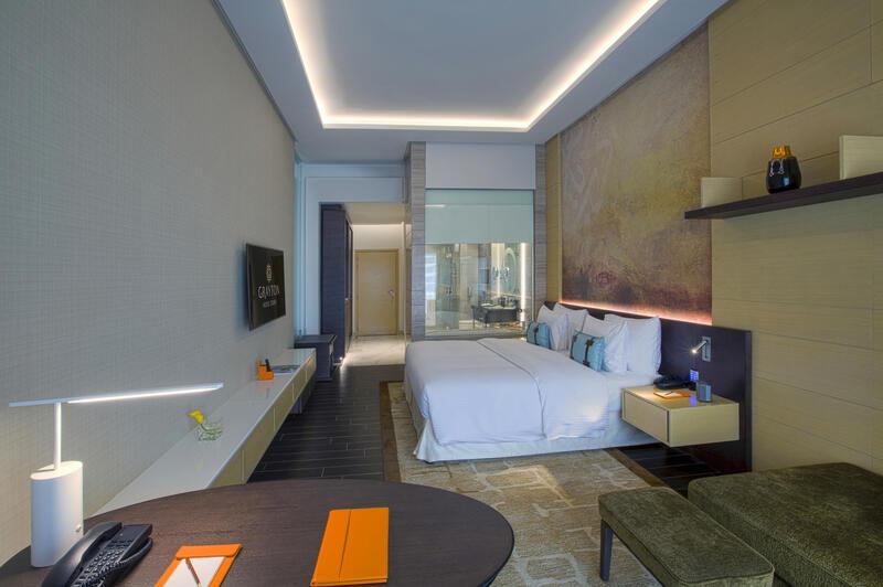 Bedroom at Grayton Hotel Dubai