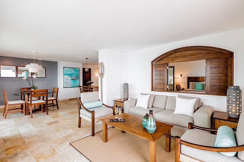 Villa Premiere Master Suite Sala de estar frente al mar