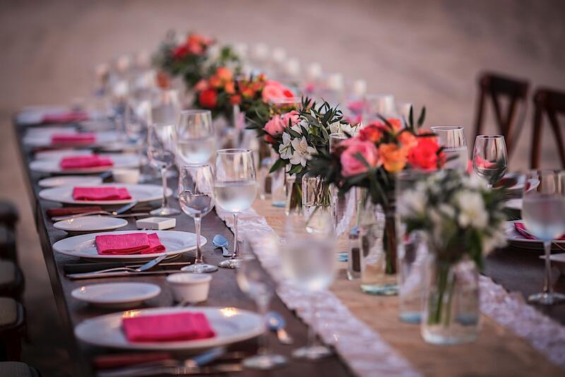 Configuración de banquetes de boda