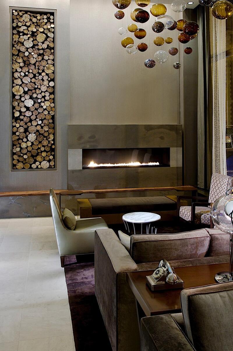 fireplace lobby