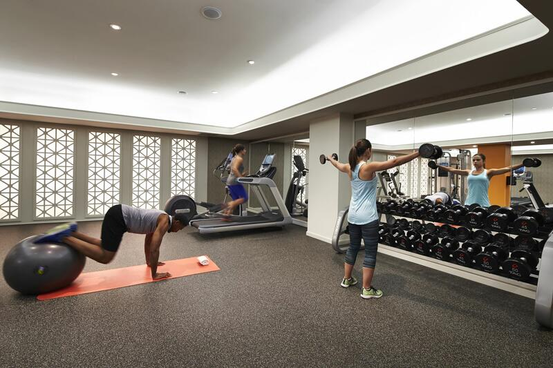 Guests in fitness center