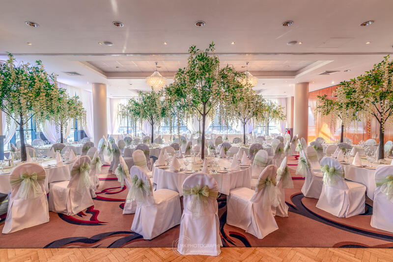 City Hotel Derry Ballroom Showing Table Layout And Decor For A W