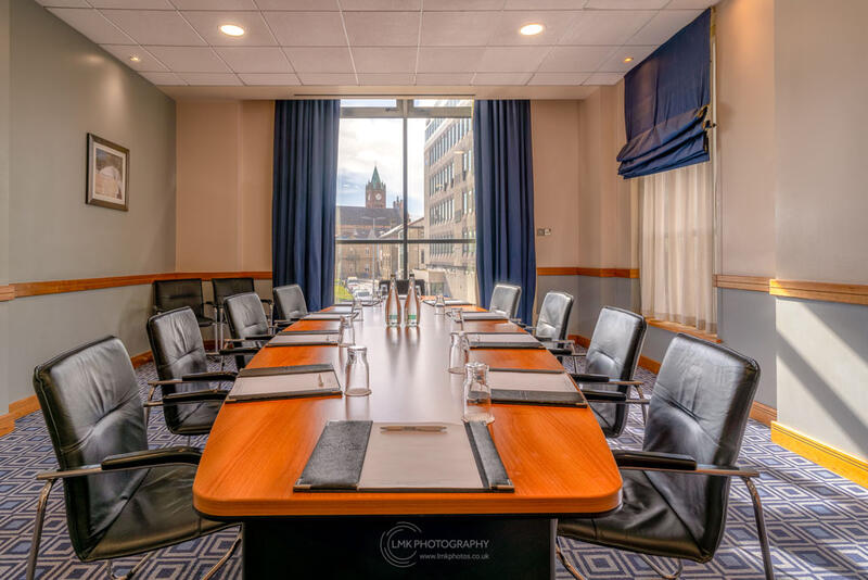 City Hotel Derry The Hervey Suite Boardroom Overview