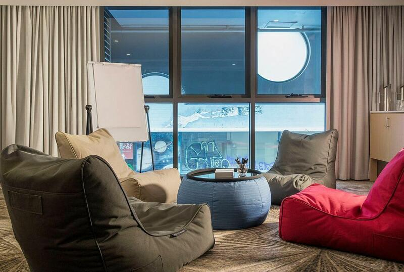 Bean bags in conference room at Brady Hotels Central Melbourne
