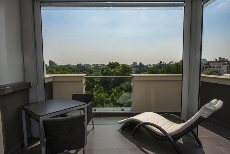 Panoramic Room at Manin Hotel Milano