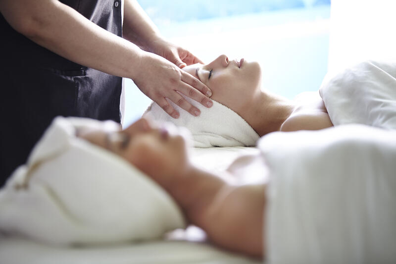 two women getting a massage