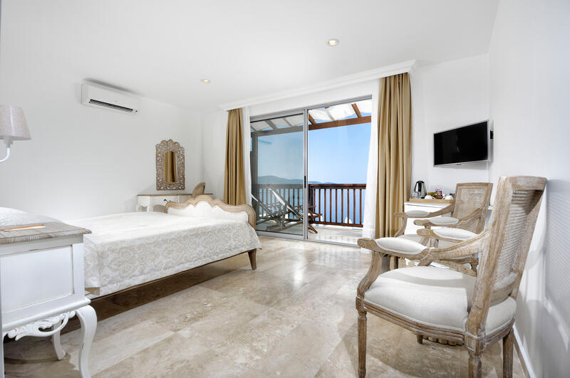 Superior Room at Sarpedor Boutique Beach Hotel in Bodrum, Turkey