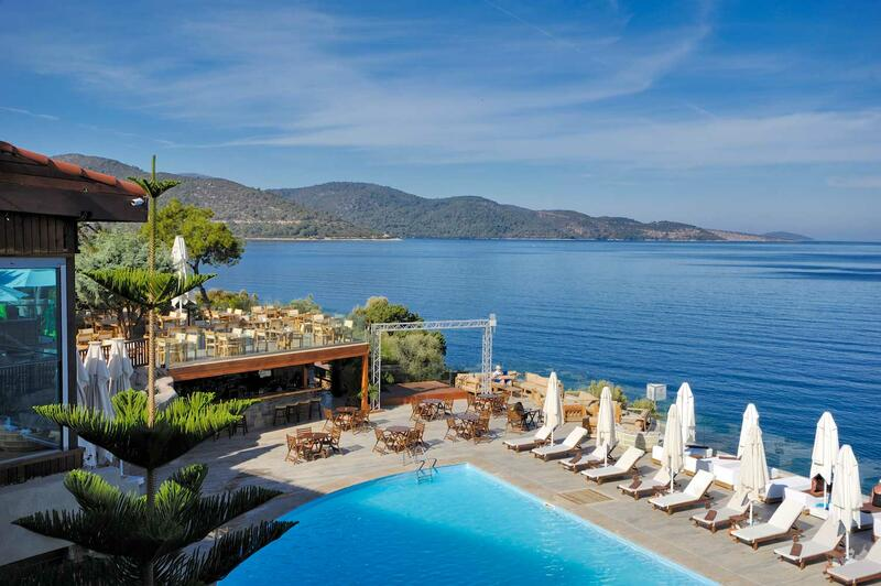 Pool at Sarpedor Boutique Beach Hotel in Bodrum, Turkey
