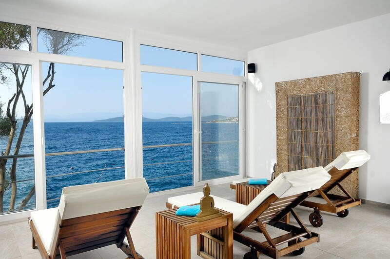 Spa relax area at Sarpedor Boutique Beach Hotel in Bodrum, Turke