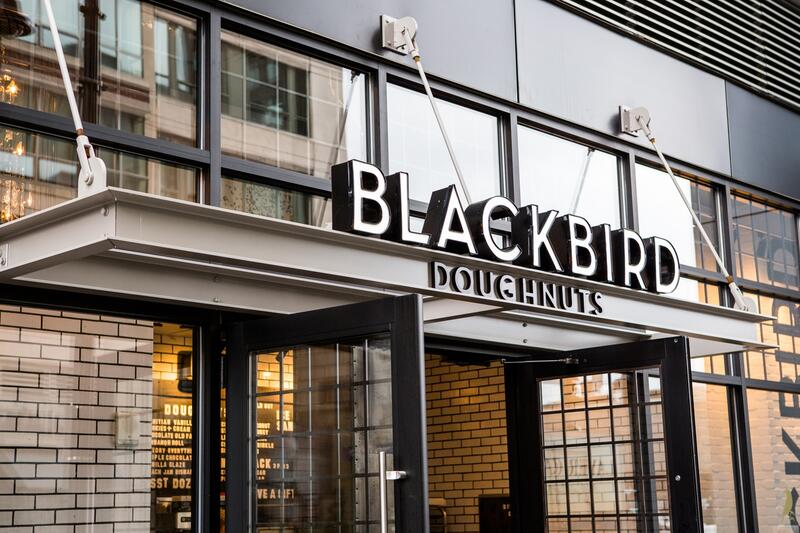 Blackbird Doughnuts Exterior Signage