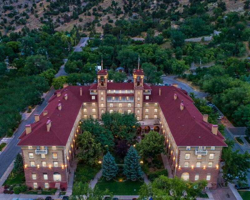 Aerial view of Hotel Colorado
