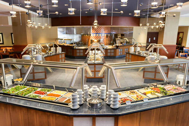 buffet bar with salad and sides