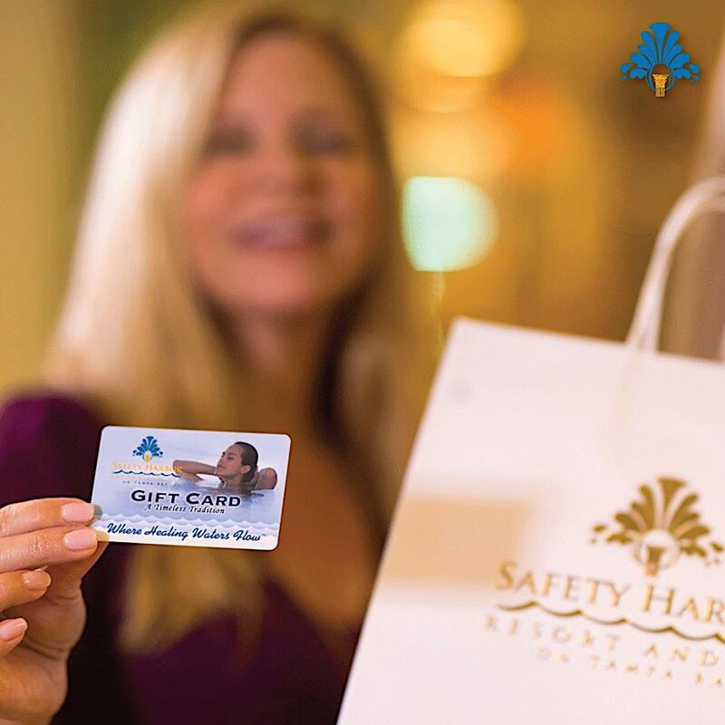 Close photo of Safety Harbor gift card.