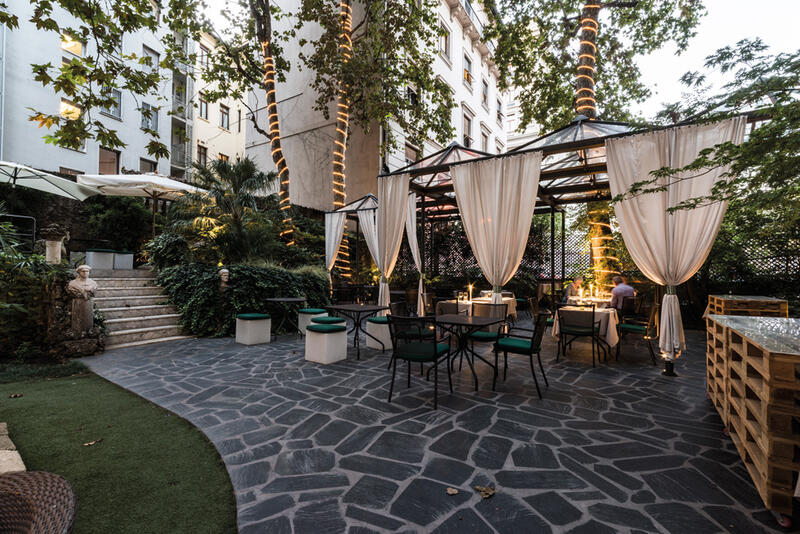 Restaurant at Manin Hotel Milano
