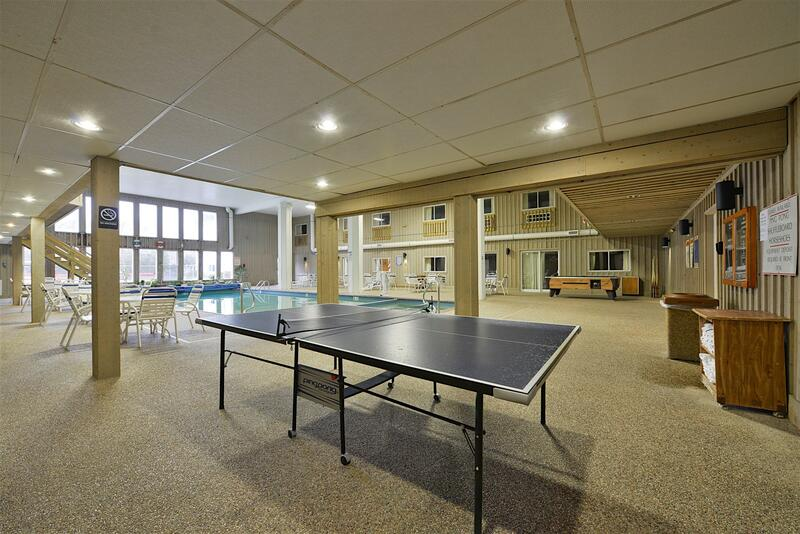 Ping pong table in Indoor Pool Area