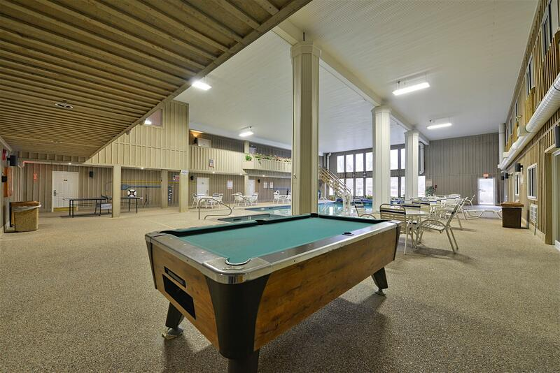 Pool Table in Indoor Pool Area