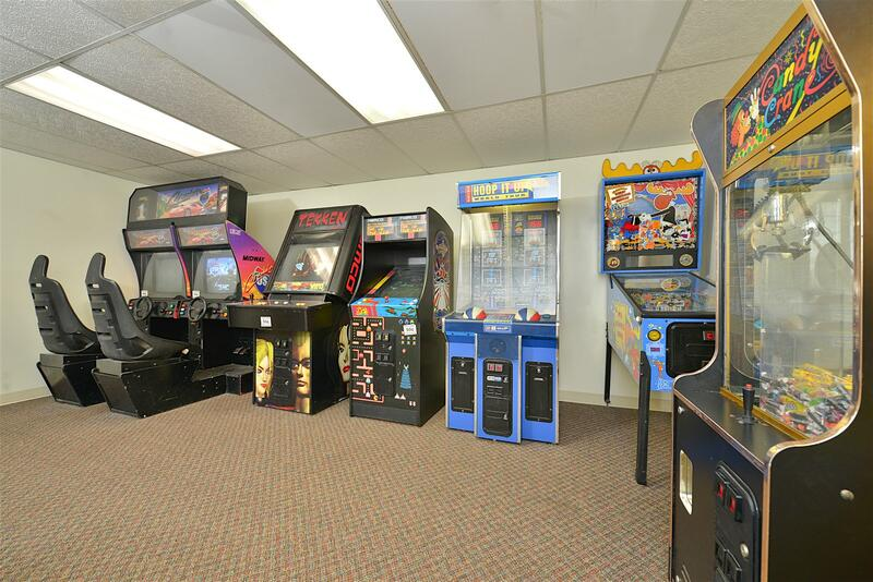 Game Room Interior Wide Angle