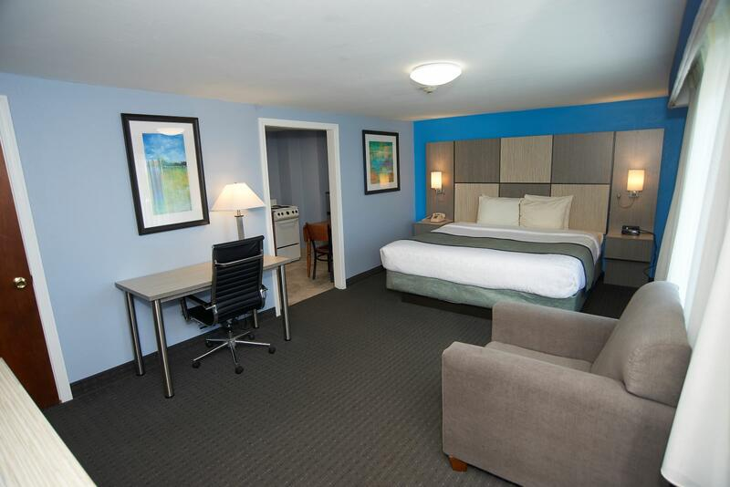 King Bed in the Efficiency Room