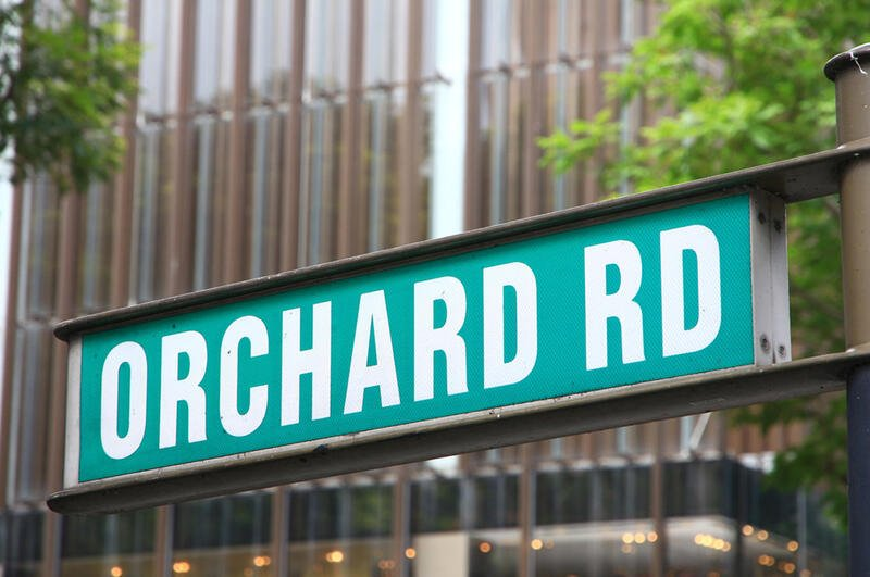 Orchard Road Singapore Street Sign