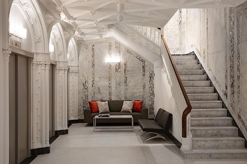 Godfrey Boston Lobby with view of stairs