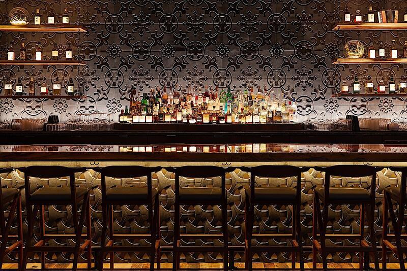 RUKA bar at night with lighting