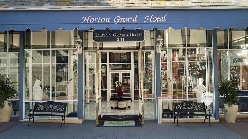 horton grand hotel front door