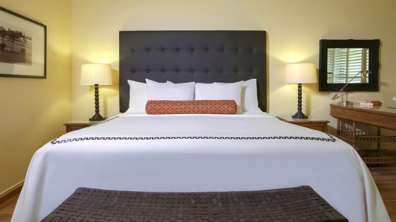 large bed with two nighstands