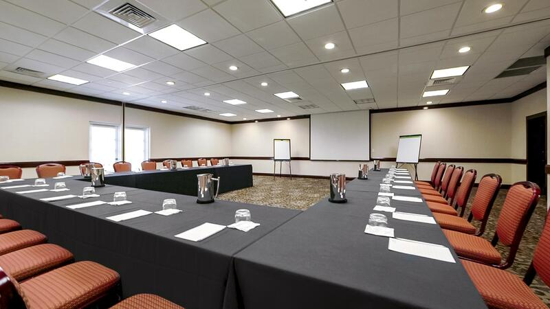 conference room with u shape table