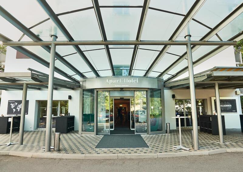 Main entrance at Apart-Hotel Zurich Airport