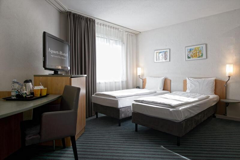 Twin room at Apart-Hotel Zurich Airport