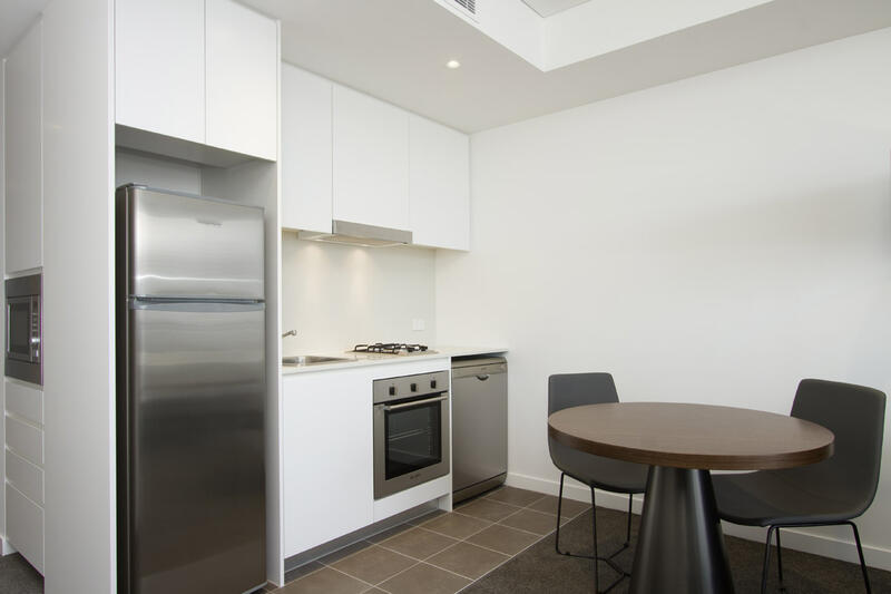 Kitchen of Executive Studio at Silkari Suites at Chatswood