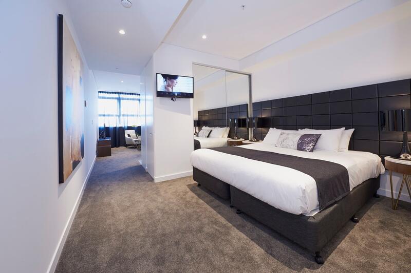 Bedroom of Executive Studio at Silkari Suites at Chatswood