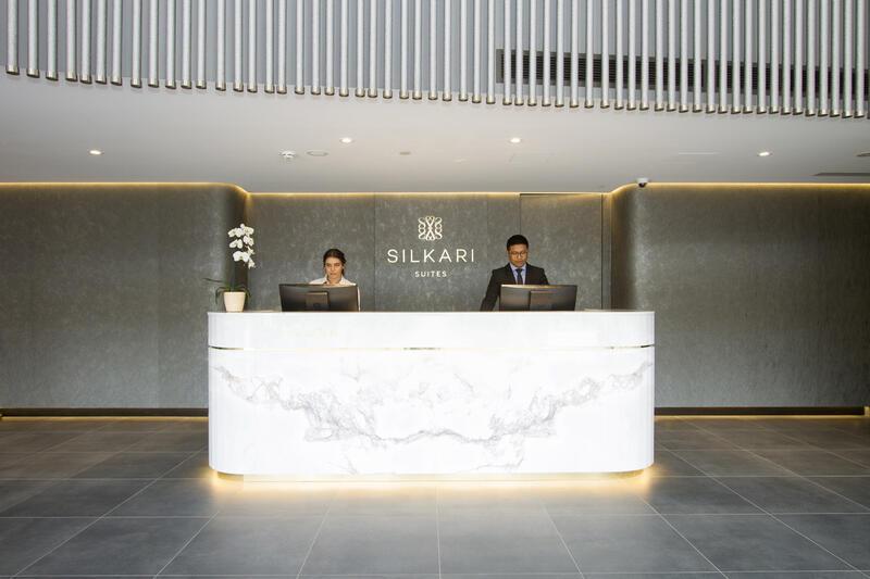 Reception at Silkari Suites at Chatswood