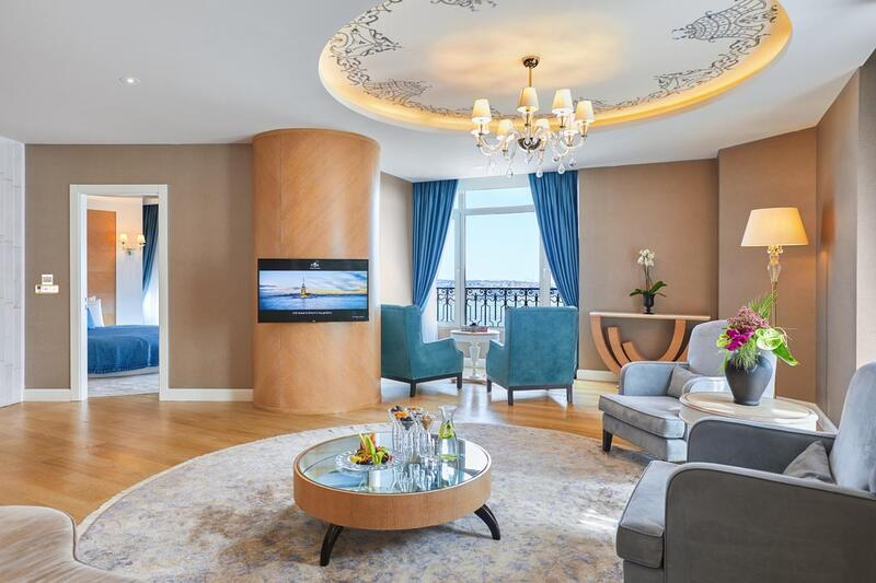 Corner suite at CVK Park Bosphorus Hotel Istanbul