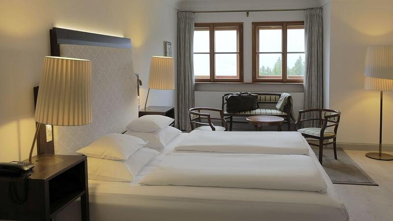 Deluxe room at Schloss Pichlarn Hotel in Austria