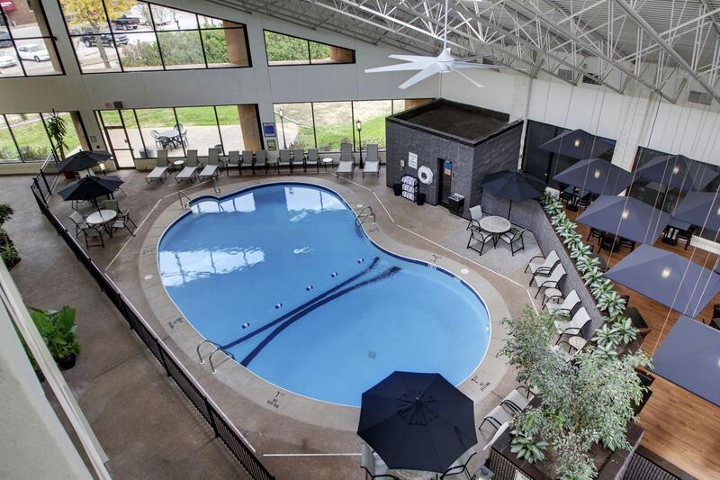 indoor pool sky view