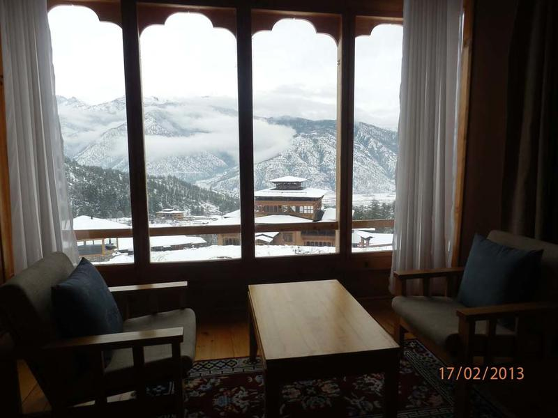 Deluxe Room views from Naksel Boutique Hotel And Spa in Paro, Bh