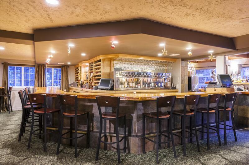 Petra's Bistro wrap-around bar