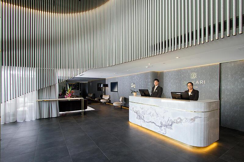 Lobby and Reception at Silkari Hotel Chatswood