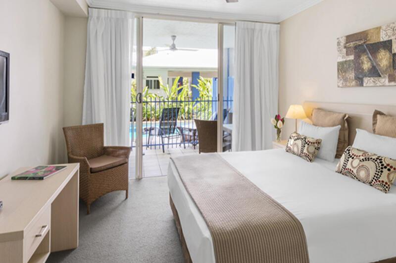 Terrace view Lagoon Swim out Room at Silkari Hotel Port Douglas