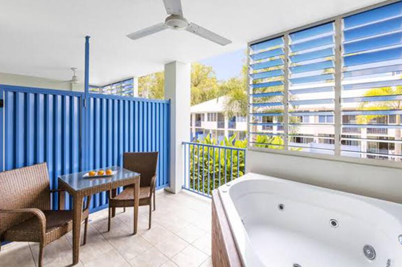 Jacuzzi in Balcony Spa Room at Silkari Hotel Port Douglas