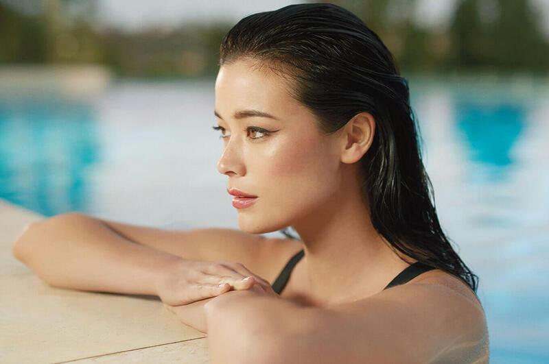 Woman by the Pool at Silkari Hotels