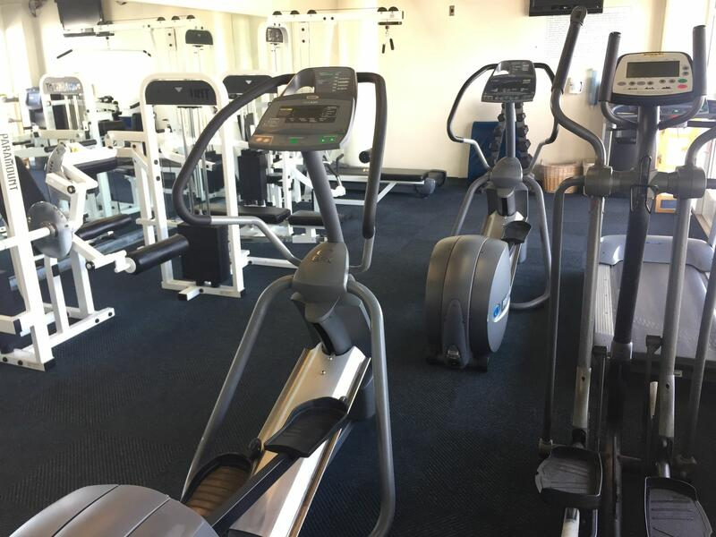 Stair climber machines in hotel exercise room