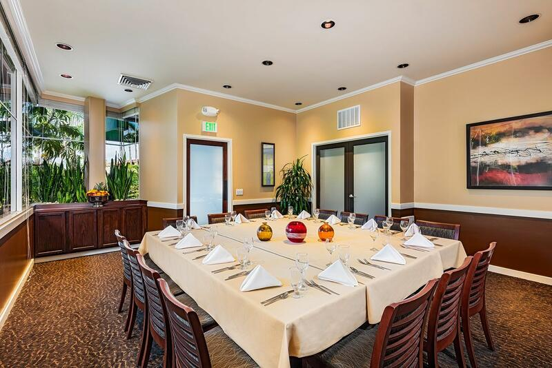 private dining room with large table