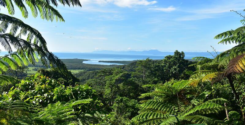 Green Landscape and Sea near Silkari Port Douglas Hotel