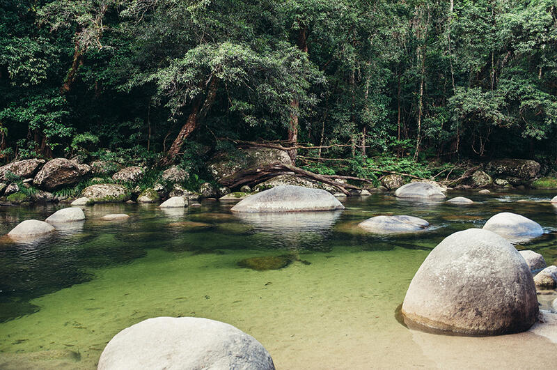 Clear Water River near Silkari Port Douglas Hotel